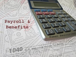 payroll benefits human resources stock foto rekenmachine dollars