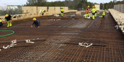 werk bouw uitzendkrachten staal lasser lassen beton